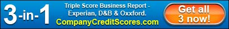 Click here to get your Triple Score Business Report from CompanyCreditScores.com